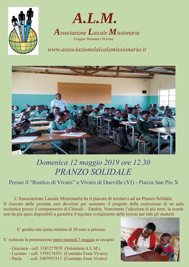 Pranzo Solidale 2019